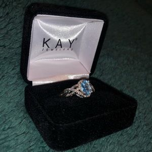 Blue and Sterling Silver Kay Jewelers Ring